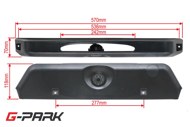 Parkovacia CCD kamera pre IVECO Daily V. (14->) v brzdovom svetle