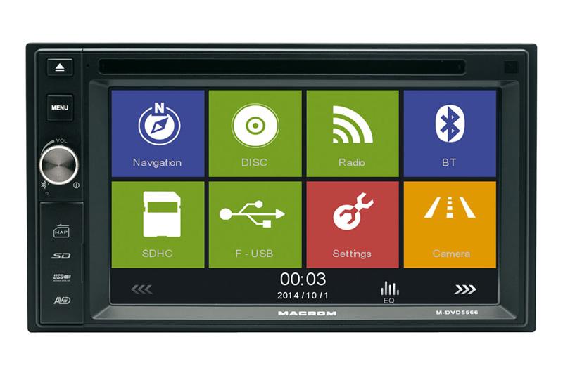 GPS autor�dio MACROM M-DVD5566 - 2DIN navig�cia
