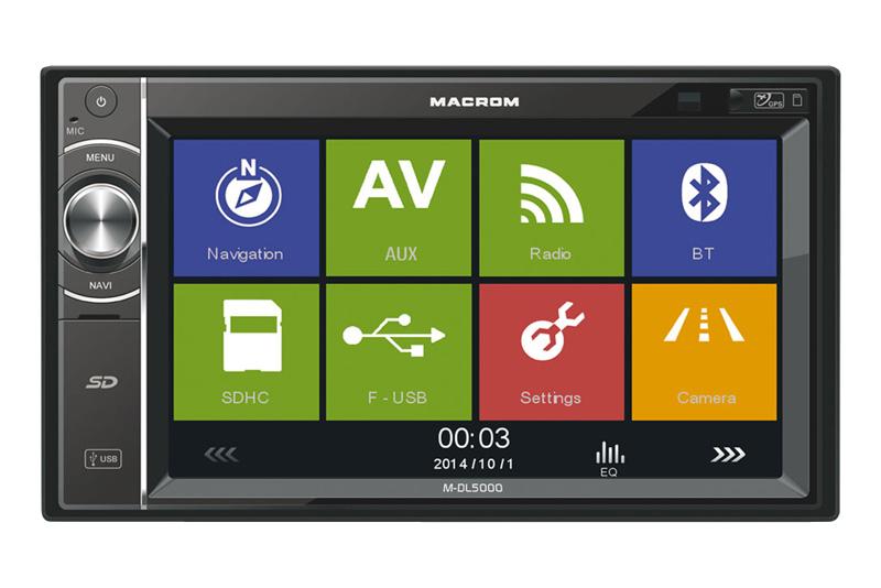 GPS autor�dio MACROM M-DL5000 - 2DIN navig�cia