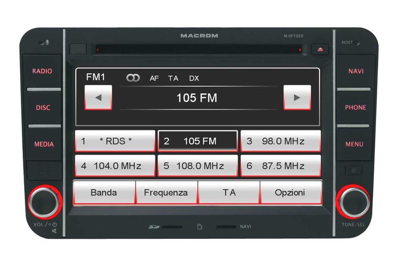 Autor�dio s GPS MACROM M-OF7020 pre �KODA / VW / SEAT
