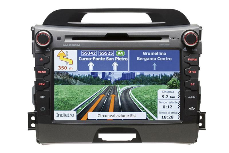 Autor�dio-GPS MACROM  M-OF7040 pre  KIA SPORTAGE  III.(8/2010->)