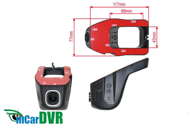InCar DVR z�znamov� kamera univerz�lna pod sp�tn� zrkadlo