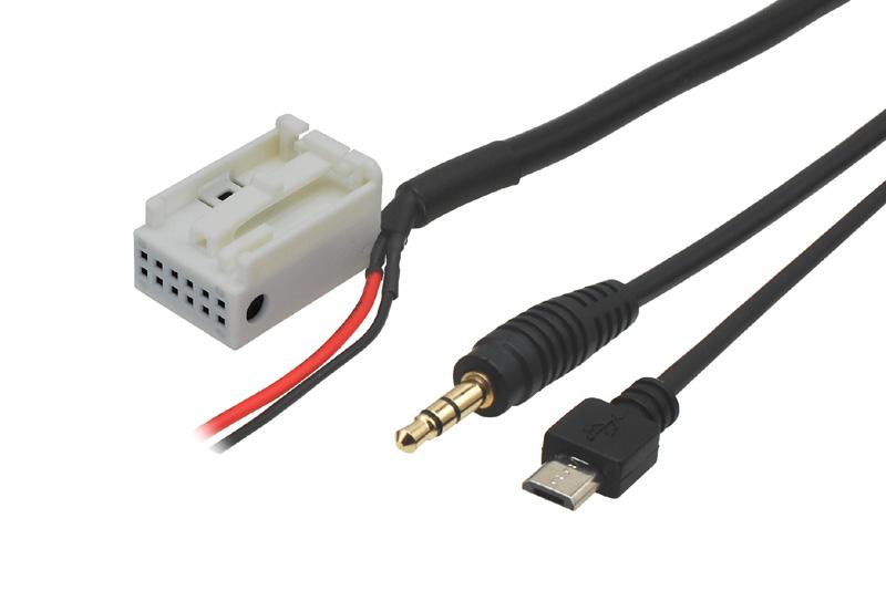 AUX a micro USB adapt�r VW / Seat / �koda