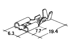 Konektor dutinka 6,3 mm-mosadz