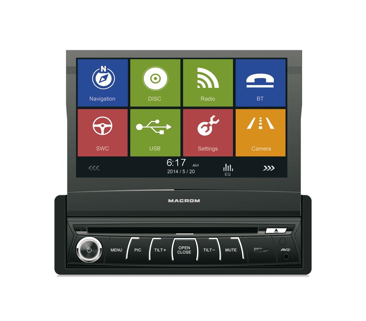 GPS autor�dio MACROM M-DVD6560 s HF sadou,1DIN-ov� v�suvn�