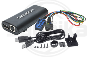 Adapt�r Dension Lite 3 iPod-USB-AUX vstup pre �KODA s autor�diom Stream