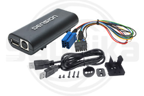 Adapt�r Dension Lite 3 iPod-USB-AUX vstup pre �KODA,VW s mini ISO konektorom