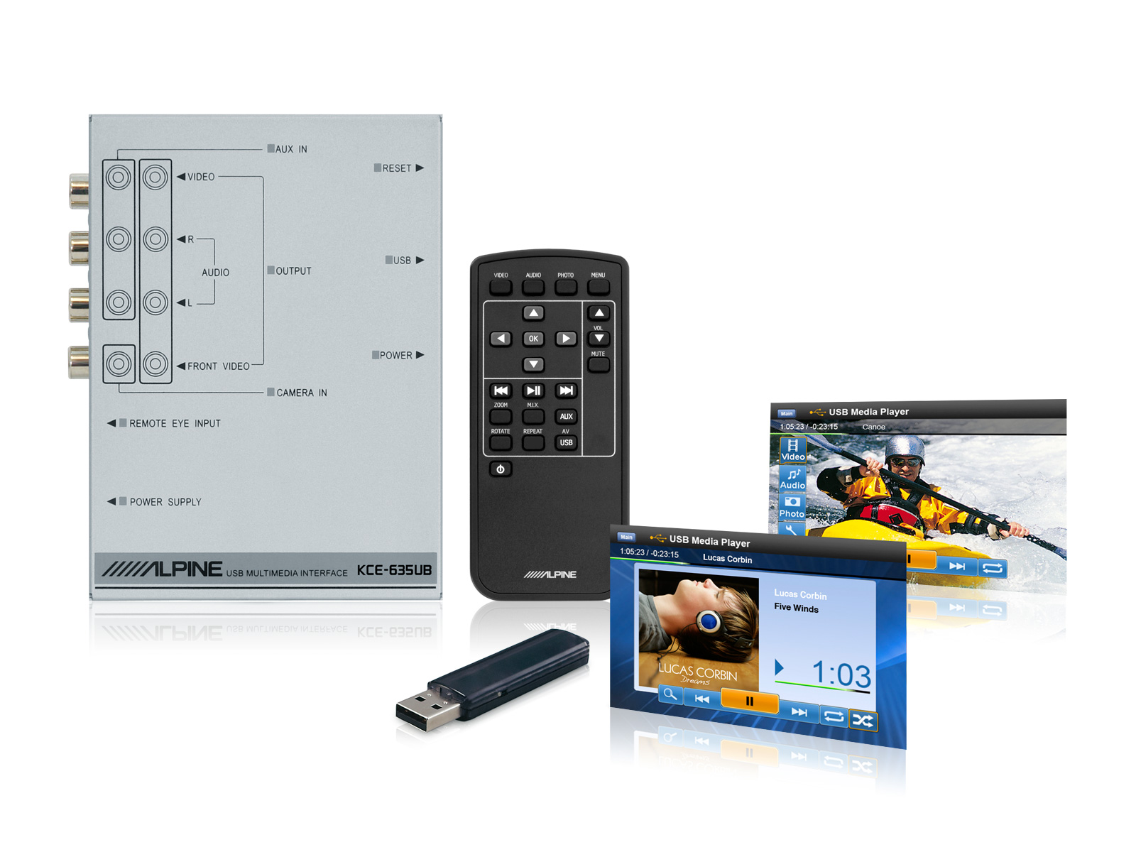 KCE-635UB - POKRO�IL� USB MULTIMEDI�LNY PREHR�VA�
