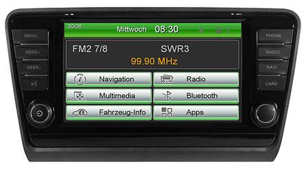 Origin�lna GPS navig�cia ESX-VN830 SK pre �koda Octavia III. (2013->)