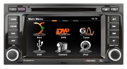 GPS autor�dio Zenec pre VW T5 Multivan, California - ZE-NC2051D E>GO