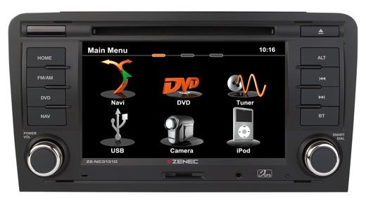GPS autor�dio Zenec pre Audi A3 - ZE-NC3131D E>GO