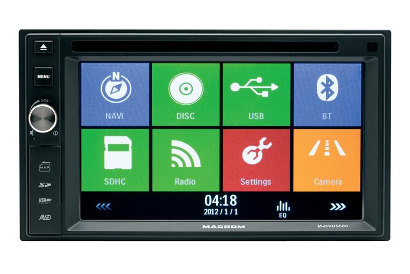 Mimoriadne priaznivý pomer kvality a ceny - to je GPS Macrom M-DVD5560