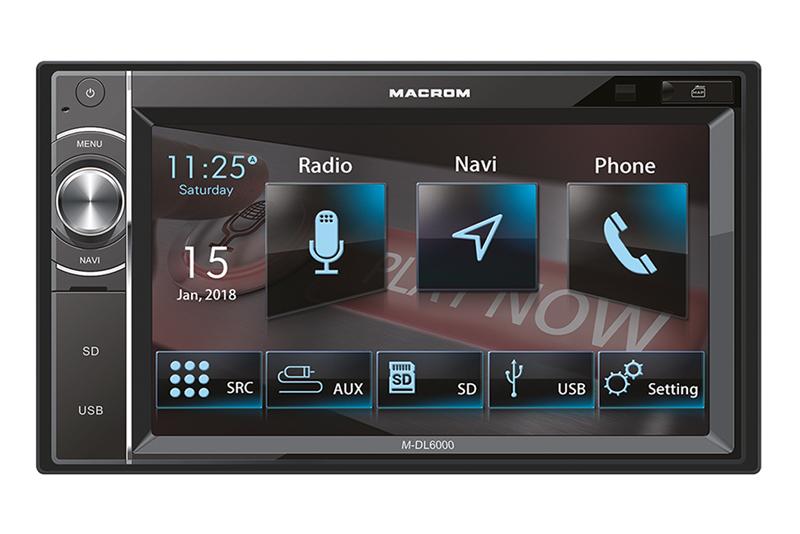 GPS autorádio MACROM M-DL6000 - 2DIN navigácia