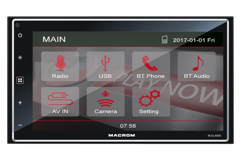 MACROM M-DL4000 autorádio 2DIN s BT a USB funkciami
