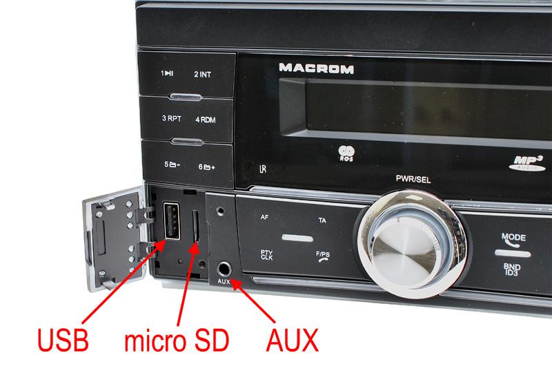 MACROM M-DL3200 autorádio 2DIN