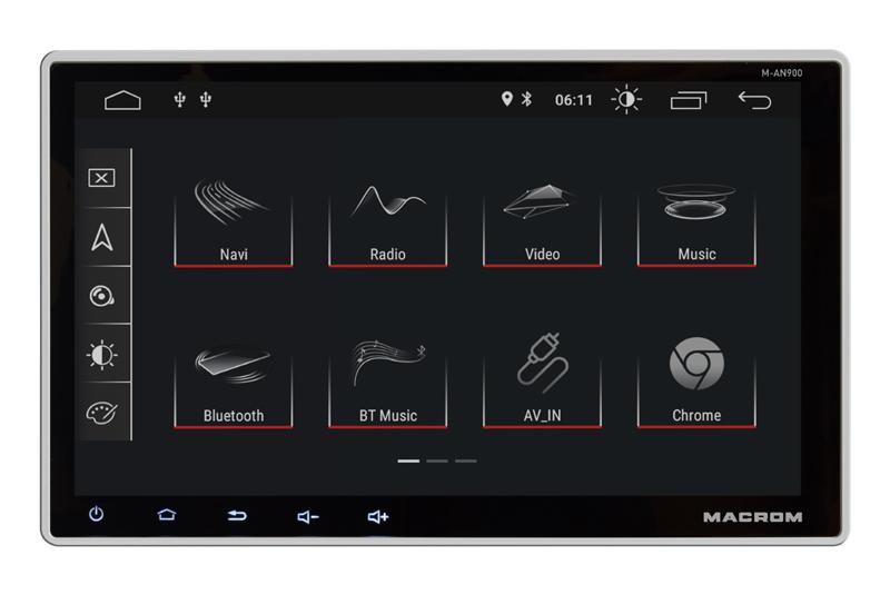 MACROM M-AN900 autorádio s 9'' displayom