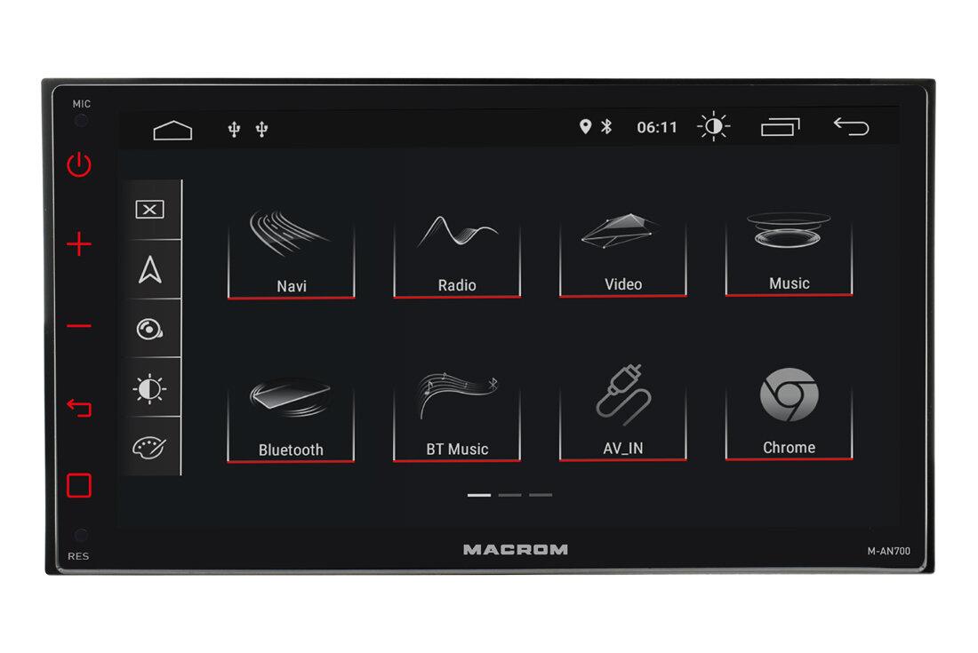 Autorádio MACROM M-AN700 so 7'' displayom a Android systémom.