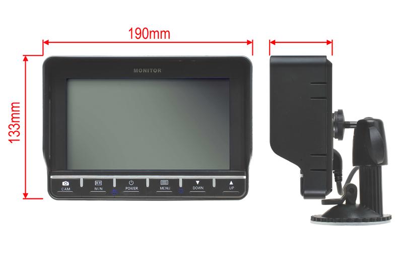RVS-7002 zostava monitoru 7'' + parkovacia kamera