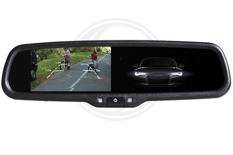 Monitor v zrkadle stmavovací - Audi, VW, Renault, Škoda...