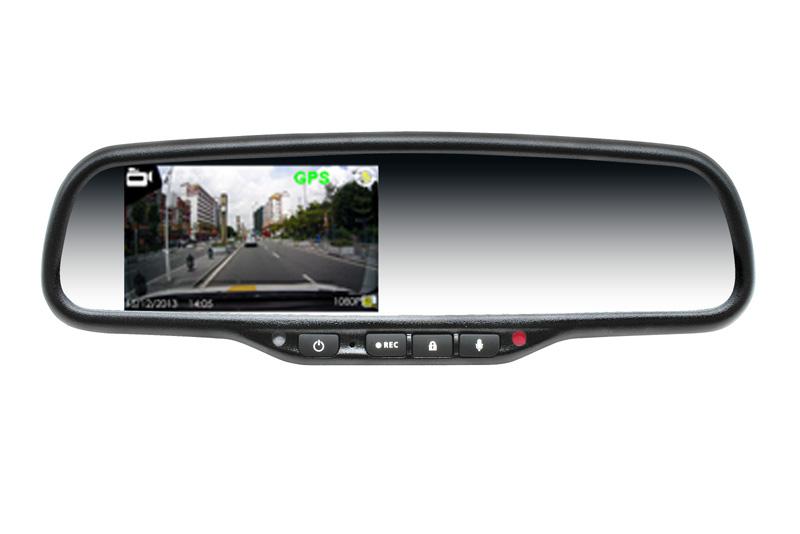 Kamera DVR záznamová v spätnom zrkadle s monitorom VW / Audi / Škoda ...