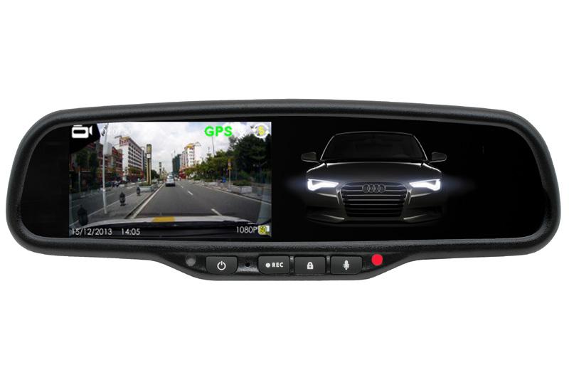 Kamera DVR záznamová v spätnom zrkadle s monitorom Honda, Mitsubishi, Toyota ...stmavovacia