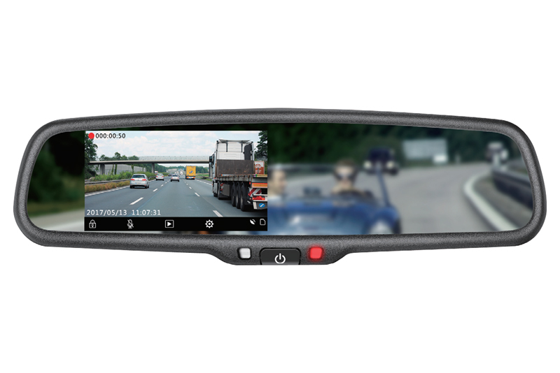 Kamera HD DVR záznamová v spätnom zrkadle s monitorom Kia,Hyundai, Mitsubishi ...stmavovacia
