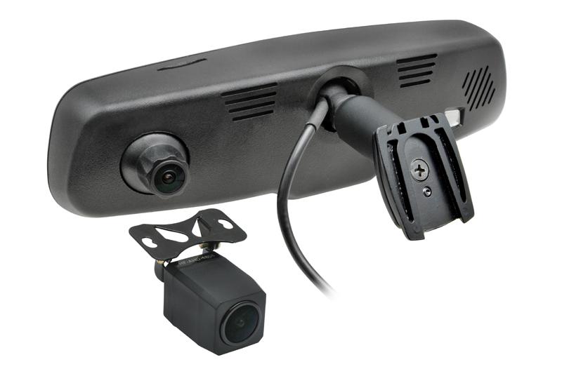 DVR kamera s monitorom v spätnom zrkadle, predná+zadná - FORD