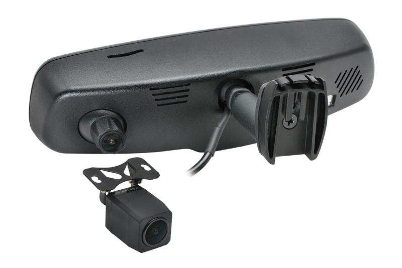 DVR kamera s monitorom v spätnom zrkadle, predná+zadná - PSA, Renault, Mercedes, Volvo