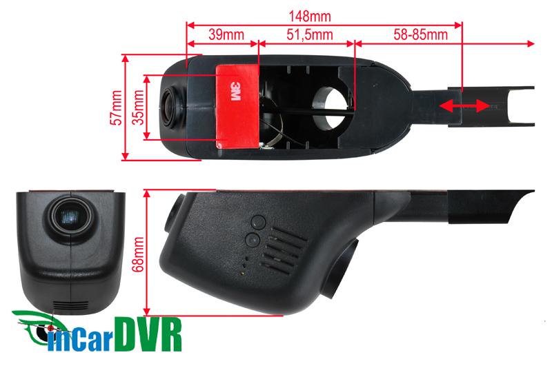 InCar DVR záznamová kamera HONDA, MITSUBISHI, SUBARU, TOYOTA...
