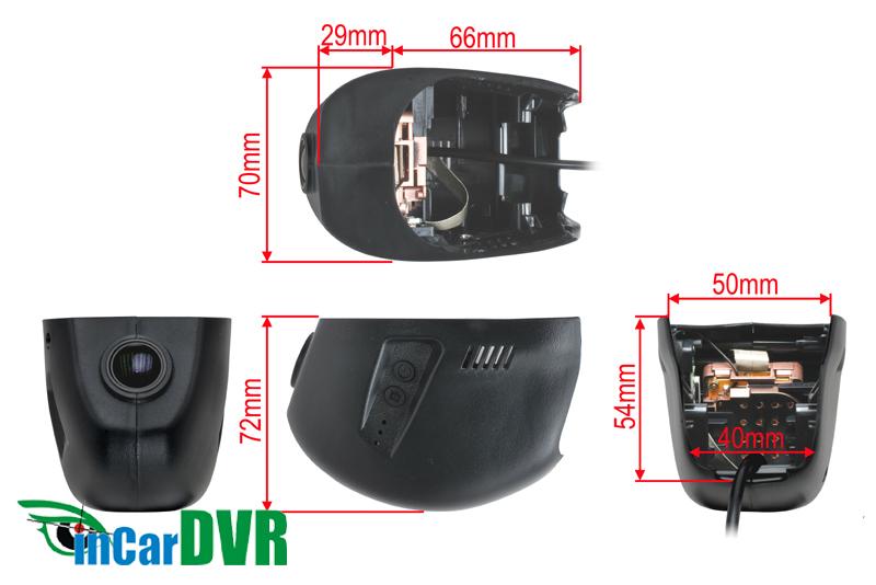 InCar DVR záznamová kamera VW GOLF VII.(11/2012->)
