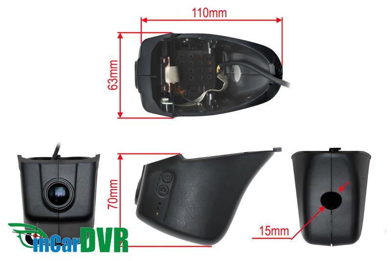 InCar DVR z�znamov� kamera VW CC
