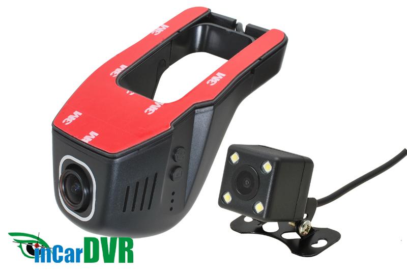 InCar DVR záznamová kamera Wi-Fi univerzálna predná + zadná