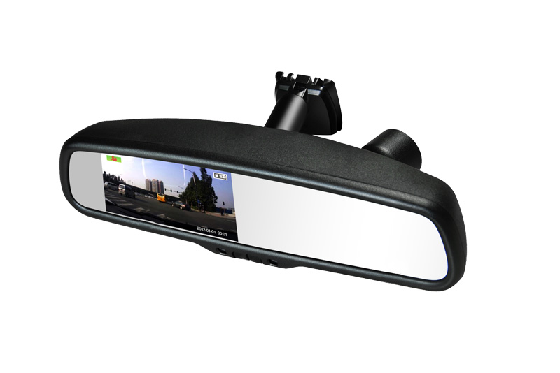 "DVR kamera so z�znamom a monitorom 4,3"" v sp�tnom zrkadle"