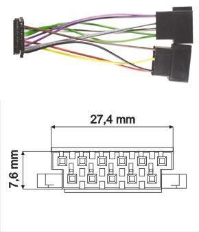 Originálne káble JVC-11pin.