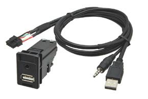 USB + JACK konektor Toyoyta