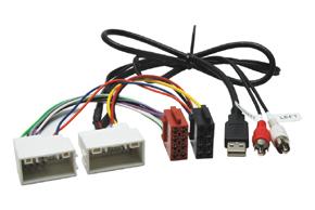 ISO redukcia pre autorádia - HYUNDAI / KIA (09->) s USB/AUX  prepojením