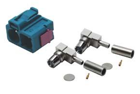Anténny konektor FAKRA samica 90° - dvojitá