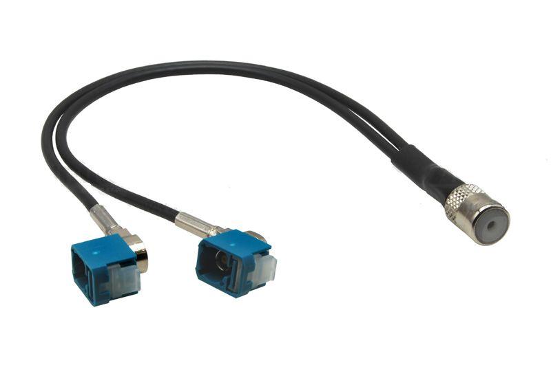 Anténny adaptér  ISO - 2x FAKRA