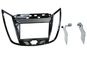 Plastový rámik autorádia Ford C-max (10->) / Kuga II. (3/2013->) 2DIN èierna
