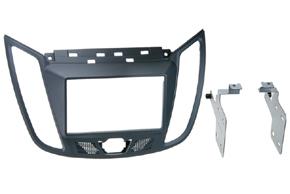 Plastový rámik autorádia Ford C-max (10->) - 2DIN šedá