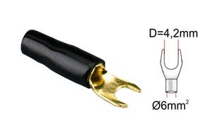 Káblová vidlièka 6mm2-èierna