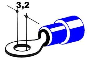 Izolovaný konektor - izolované káblové oko priemer 3,2mm