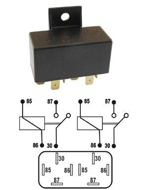 Sp�nacie rel�-12V/30A-dvojit�