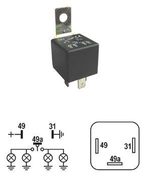Prerušovaè blinkrov-3 vývodový