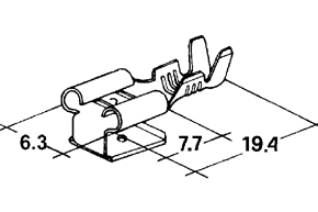 Konektor dutinka 6,3 mm s odboèkou-mosadz