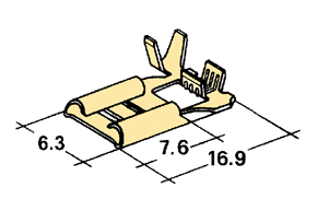 Konektor dutinka 6,3 mm-mosadz - boèná