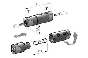 Poistkov� p�zdro - trubi�kov� sklenen� poistka
