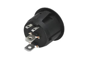 Kolískový spínaè kruhový - LED èervená