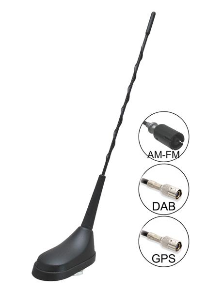 Calearo TRI-DAB AM-FM / DAB-DAB + / GPS strešná aktívna anténa