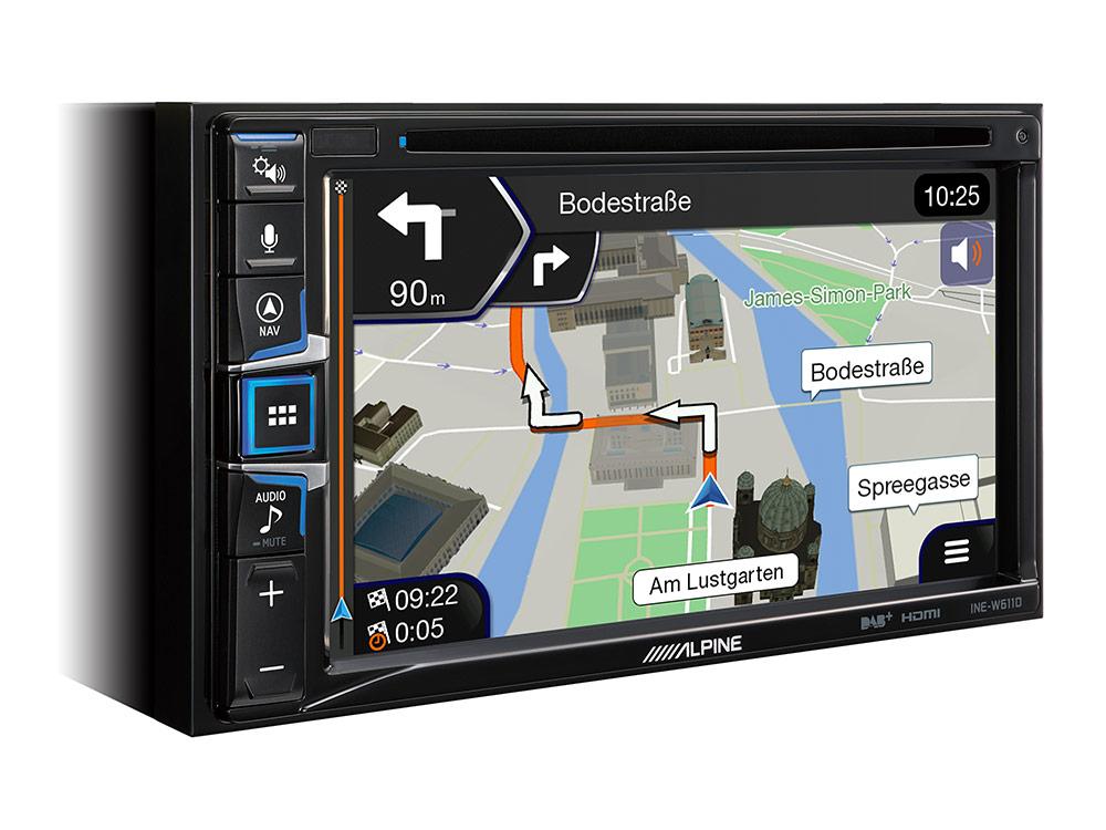 ALPINE INE-W611D navigácia 2DIN